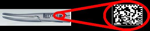 Possibilidade de gravação a laser com código datamatrix para aplicações de rastreabilidade